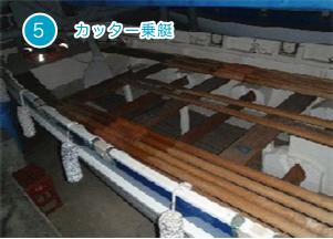 カッター乗艇